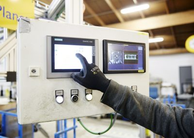 Automatic Plant packer control panel